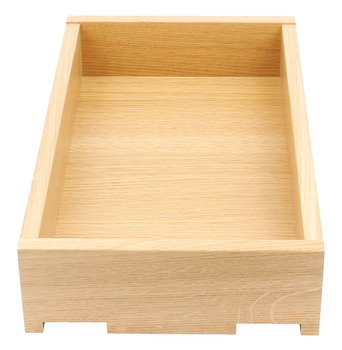 Solid Oak Drawer, Height 90-185 mm, Fully Assembled