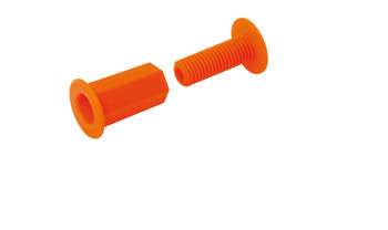 Space Plugs, Orange Plastic