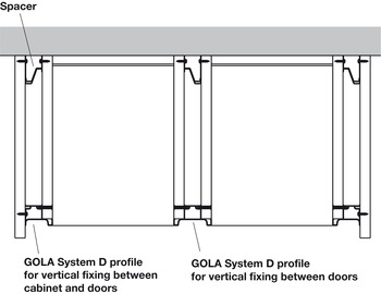 Spacer Set, for Gola Profile System D Vertical Profiles, Gola