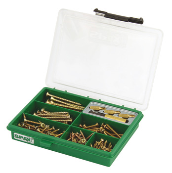Spax® Assortment Case, Small 199 Piece Set of Screws and Driver Bits