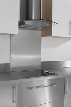 Splashback, Brushed Stainless Steel, 7 mm Thick