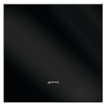 Splashback, Glass, Black, 600-1100 mm, Smeg
