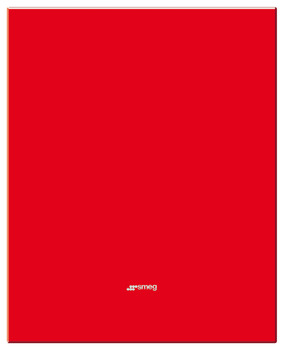 Splashback, Glass, Red, 600-900 mm, Smeg
