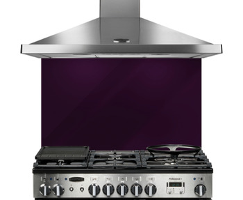Splashback, Purple Glass, Rangemaster 90