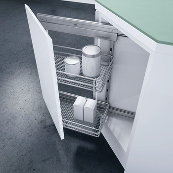 Storage Basket Set, for Cabinet Width 300 mm, 45 °, Vauth-Sagel VS SUB Side