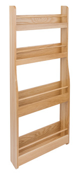 Storage Rack, Clear Lacquered European Oak