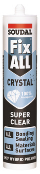 Super Clear Sealant and Adhesive, SMX Hybrid Polymer, Tube 290 ml, Soudal Fix All Crystal
