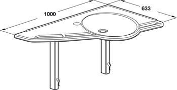 Support Washbasin, Basic Version, Ropox