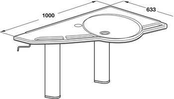 Support Washbasin, Flexi Version, Ropox