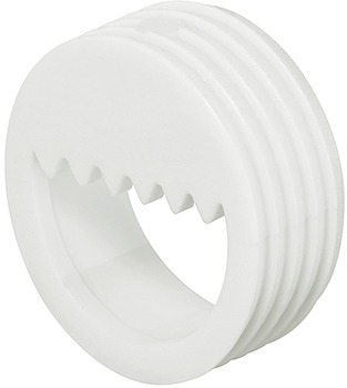 Suspension Fitting, Half-Circle Aperture with Serrated Edge, for Use With Screw Hook