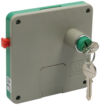 Swimming Pool Locker Lock, Coin Operated, for Wet Areas, ABS Housing, Brass Nickel Barrel