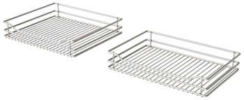 Swing Out Corner Storage, Classic Silver Linear Wire Baskets, Vauth-Sagel, VS COR Fold