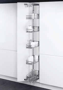 Swing Out Larder Unit, For Cabinet Width 300-400 mm, Classic Linear Chrome Baskets, Vauth-Sagel VS TAL Gate N