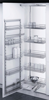 Swing Out Pantry Unit, Complete Set, Built in Depth 480 mm, for Cabinet Width 600 mm, Vauth-Sagel VS TAL Gate Pro