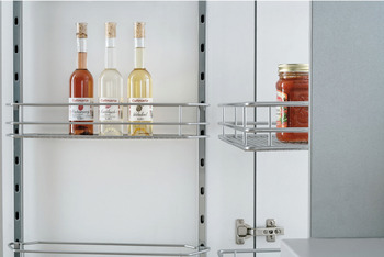 Swing Out Pantry Unit, Complete Set, Centre and Door Mounting, Height Adjustable, Full Extension, Vauth Sagel VS TAL Gate Pro
