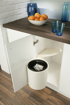 Swing Out Waste Bin, for Hinged Door Cabinets, 10 Litres