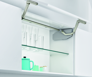 Swing Up Front Fitting, for One-Piece Wooden/Glass/Aluminium Frame Flaps, Free Swing