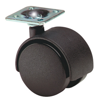 Swivel Twin Wheel Castor, without Brake, Ø 40-50 mm, Hooded, 32 mm Plate Fixing