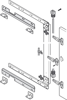 Synchronised Control, for Pivot Sliding Cabinet Doors, Accuride 1316