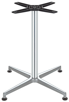 Table Base, Single Column, with Feet, Aluminium and Steel