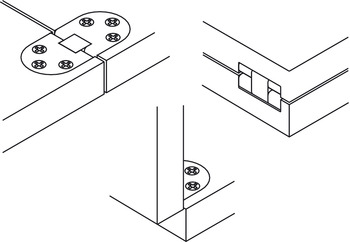 Table Hinge, Self Supporting, Folding
