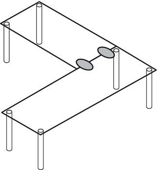 Table Top Connecting Fitting, Modular
