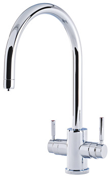 Tap, 3-in-1 Hot Tap, C-Spout, Dual Lever Monobloc, Perrin and Rowe Phoenix