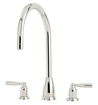 Tap, Contemporary Dual Lever Monobloc For 3 Holes, Perrin and Rowe Callisto