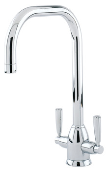 Tap, Contemporary Dual Lever Monobloc, U-Spout, Perrin and Rowe Oberon
