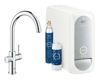 Tap, Dual Lever Monobloc Filter Tap, For Chilled Still or Sparkling Water, C-Spout, Grohe Blue® Home Duo