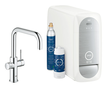 Tap, Dual Lever Monobloc Filter Tap, For Chilled Still or Sparkling Water, U-Spout, Grohe Blue® Home Duo