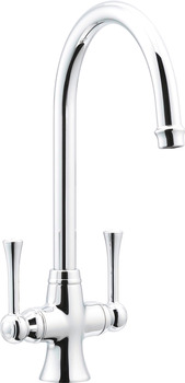 Tap, Dual Lever Monobloc Mixer, Häfele Country Chick Swaneck