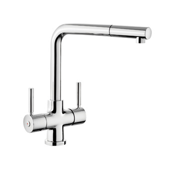 Tap, Dual Lever, Pull Out Spray, Rangemaster Aquadisc 5