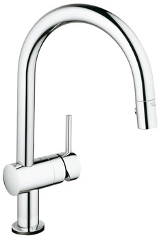 Tap, Electronic Single Lever Monobloc Mixer, Pull Out Spray, C-Spout, Grohe Minta Touch