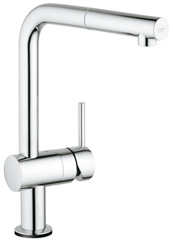Tap, Electronic Single Lever Monobloc Mixer, Pull Out Spray, L-Spout, Grohe Minta Touch