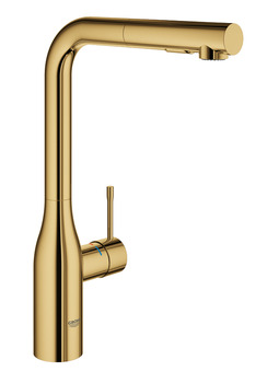 Tap, Single Lever Monobloc Mixer, Pull Out Spray, Grohe Essence