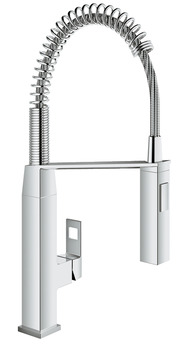 Tap, Single Lever Monobloc Mixer, Pull Out Spray, Grohe Eurocube Professional