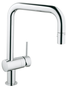 Tap, Single Lever Monobloc Mixer, Pull Out Spray, U-Spout, Grohe Minta