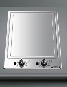 Teppanyaki Grill Plate, Ultra Low Profile, Domino, 310 mm, Smeg Classic