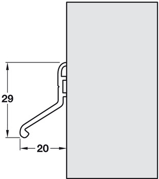 Threshold Seal, Inward and Outward, Length 914 mm, Deflector 20
