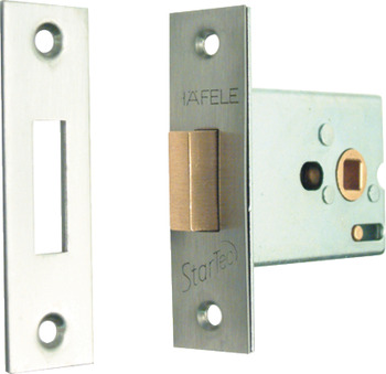Toilet Cubicle Lock, Mortice, Deadbolt Operated by Turn/Emergency Release