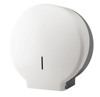 Toilet Roll Dispenser, Mini Jumbo, White ABS