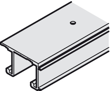Top Track, Double, for Sliding Cabinet and Wardrobe Doors, EKU-Combino 35