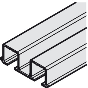 Top Track, Double, for Sliding Cabinet Doors, Eku Clipo