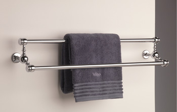 Towel Rail, Double, Length 458 mm, Height 137 mm, Depth 146 mm, Carroll