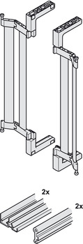 Track Set, for Flush Sliding Cabinet Doors, Finetta Flatfront S 10 FB