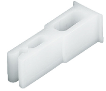Track Stopper, with Retaining Spring, for Sliding Cabinet Doors, Fingerfix