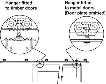 Trolley Hanger, for Sliding Interior Doors, Straightaway 100