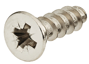 Varianta Screw, Countersunk Head, PZ, Fully Threaded, for Ø 3 mm Holes, Nickel Plated Steel