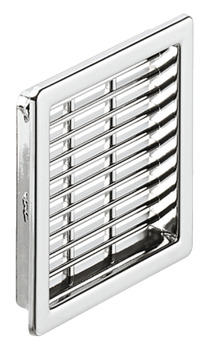 Ventilation Grill, for Recess Mounting, 50 x 50 mm, Plastic